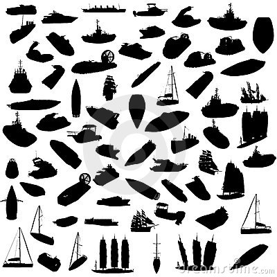 Free Silhouette Of Boats Stock Photos - 12528433