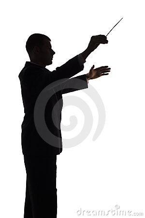 Free Silhouette Of Conductor Royalty Free Stock Image - 1245646