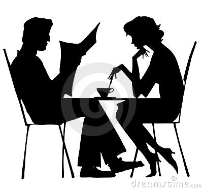 Free Silhouette Of Couple Stock Image - 817201