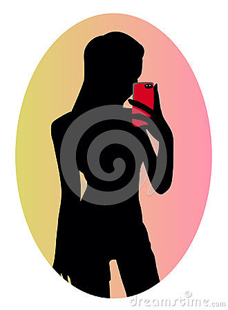 Free Silhouette Of Cute Sexy Sporty Girl Making Selfie Royalty Free Stock Photo - 96646665