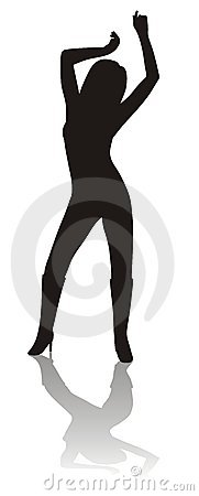 Free Silhouette Of Dancing Girl Stock Images - 1623214