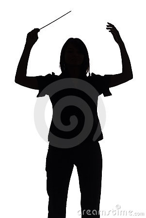 Free Silhouette Of Female Conductor Stock Photo - 1282680