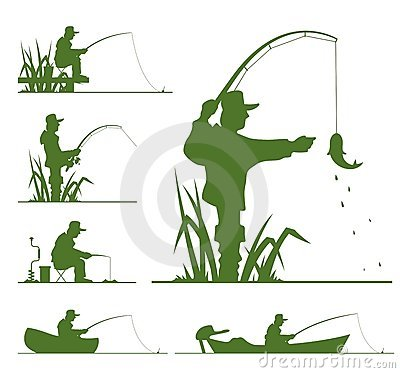 Free Silhouette Of Fisherman Royalty Free Stock Image - 18905666