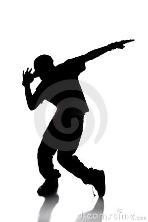 Free Silhouette Of Hip Hop Dancer Stock Image - 8381971