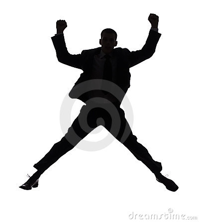 Free Silhouette Of Jumping Man Royalty Free Stock Photo - 1245695
