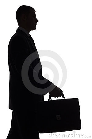 Free Silhouette Of Man With Suitcase Stock Photo - 1245630