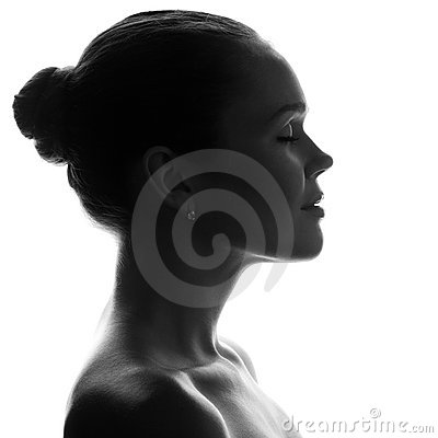 Free Silhouette Of Pretty Woman Stock Images - 15915334
