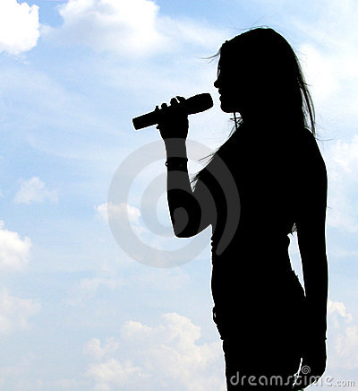 Free Silhouette Of Singing Girl Stock Photos - 172633