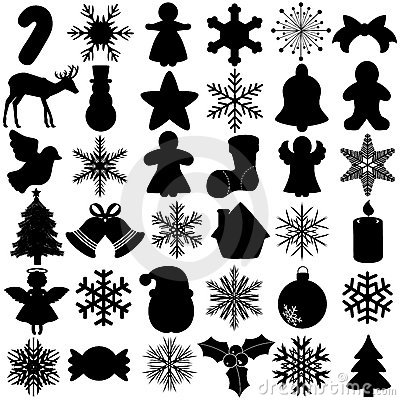 Free Silhouette Of Snowflake Christmas Festival Symbol Royalty Free Stock Images - 22227309