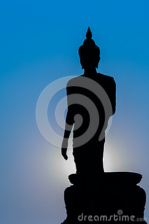 Free Silhouette Of Standing Big Buddha Statue During Twilight Time Stock Images - 49380494