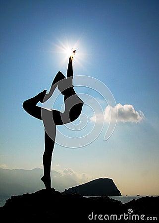 Free Silhouette Of Statue In Budva Stock Photos - 3097003