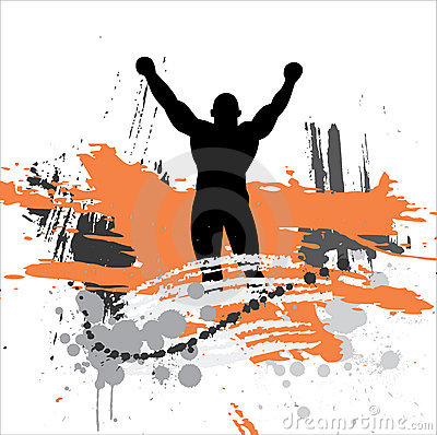 Free Silhouette Of The Champion. Stock Photography - 8394832