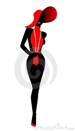 Free Silhouette Of The Harmonous Woman Stock Images - 8450884