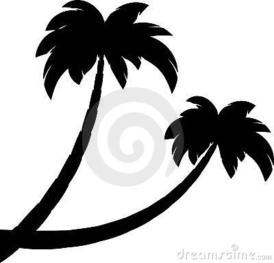 Free Silhouette Of Two Palms Stock Photography - 14452982