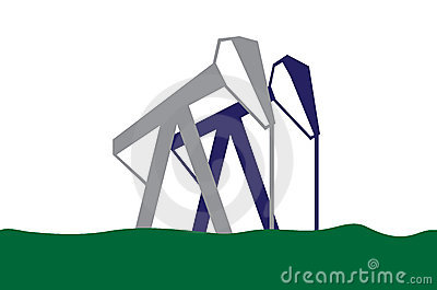 Silhouette of oil pumps