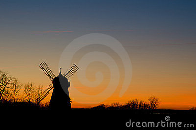 Silhouette of Oland, Sweden