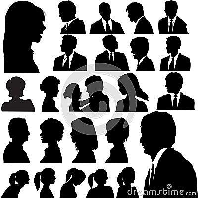 silhouette portraits