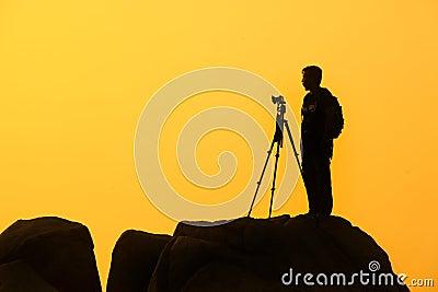 Silhouette Of Photographer Free Public Domain Cc0 Image
