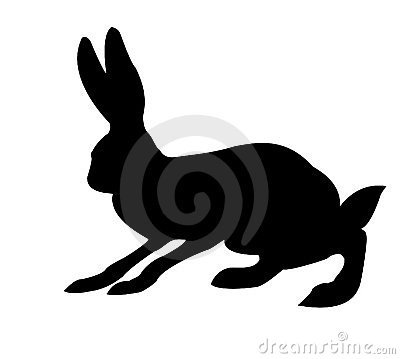 Silhouette of the rabbit