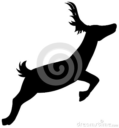 Silhouette Running Deer
