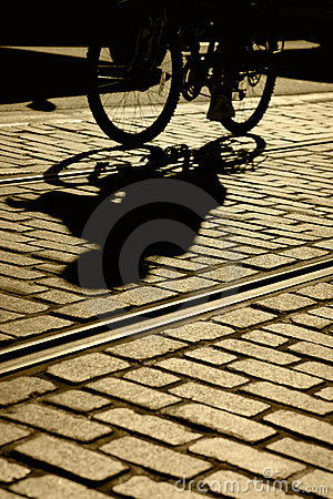 Silhouette and Shadow of Bicyle