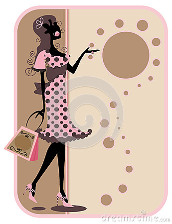 Silhouette shopping Tag