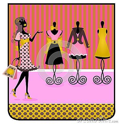 Silhouette shopping Tag