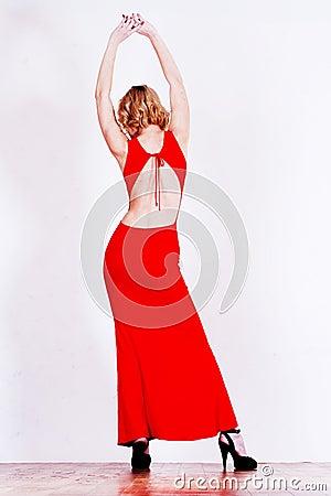 Silhouette of skinny women
