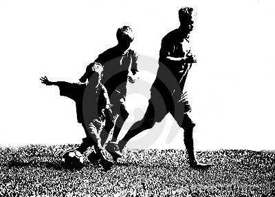 Silhouette Soccer Players