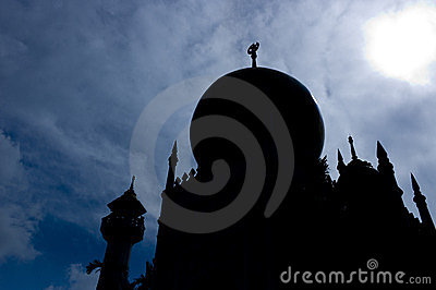 Silhouette of Sultan Mosque, Singapore