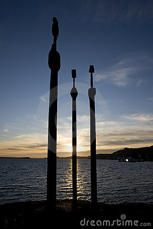 Silhouette of Swords in Rock