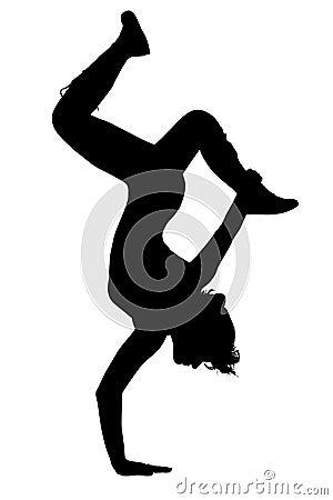 Silhouette Teen Girl Dancing
