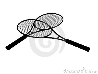 Silhouette of Tennis racket s