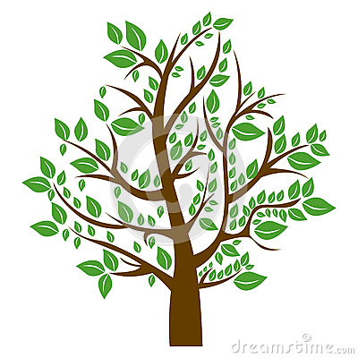 Free Silhouette Tree With Brown Trunk And Green Leaves Royalty Free Stock Photo - 89361215