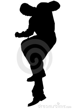 Free Silhouette With Clipping Path Of Man Jumping Stock Photos - 200243