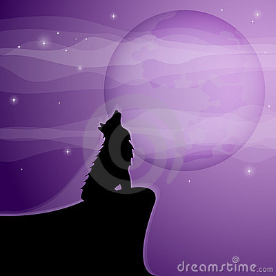 Wolf Pup Howling. moon Pup howling moon a