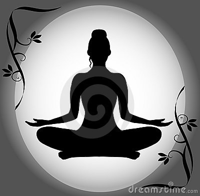 Silhouette of a Woman in the Lotus Position