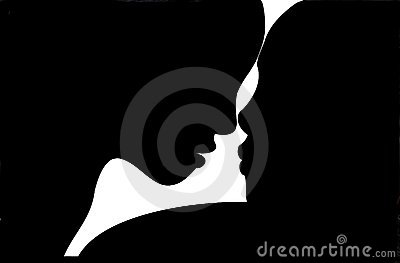 Silhouette of Woman and Man