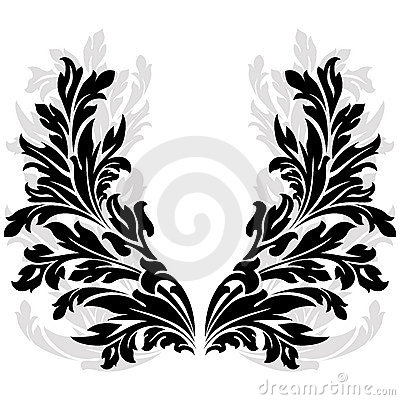 Silhouetted floral garland