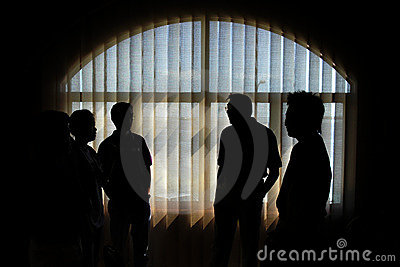 Silhouetted People