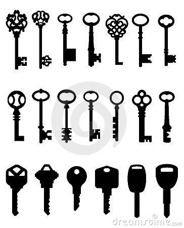 Silhouetted set of keys