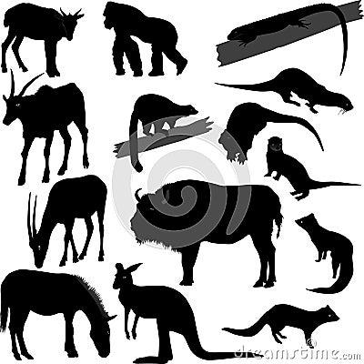 Silhouetten van dieren