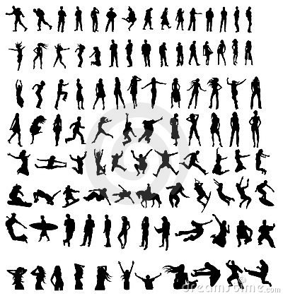 Free Silhouettes Royalty Free Stock Image - 7655796