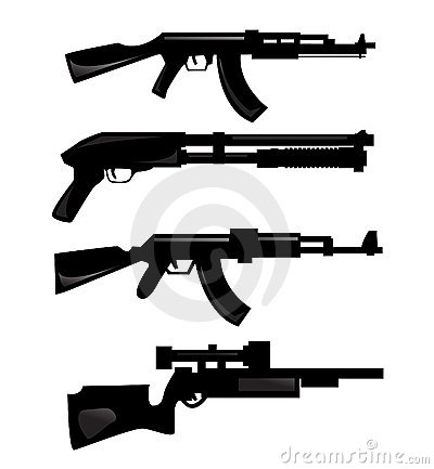 Silhouettes d arme