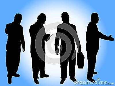 Silhouettes d homme d affaires