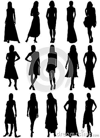 Silhouettes de filles