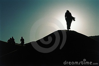 Silhouettes in the Desert