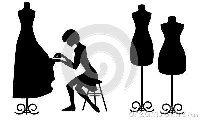 Mannequin silhouette vector by sdmix - Image #389122 - VectorStock