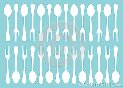 Silhouettes of fork and spoon