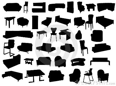 Silhouettes of forniture